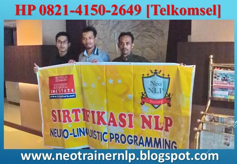 Pelatihan Dan Sertifikasi TRainer NLP Jakarta